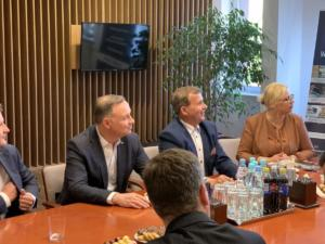 Wizyta Prezydenta Andrzeja Dudy w firmie Wireland
