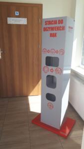 Stacja do dezynfekcji rąk - wolnostojąca